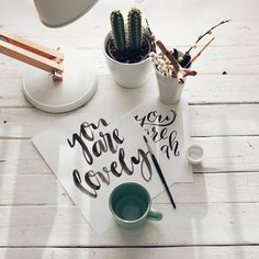 #lovely #handlettering