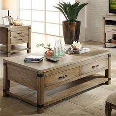 Riverside Furniture – Bay Cliff Rectangular Coffee Table