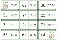 Domino zur Addition im ZR bis 100 Math Subtraction, Math 2, Math Addition, Play To Learn, Second Grade, Mathematics, Kindergarten, Homeschool, The 100