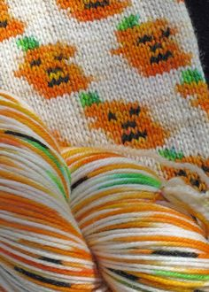 Pumpkin Sock Yarn