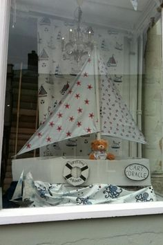 We love this creative nautical inspired window display from Needful Things of our Be Happy range... www.prestigious.co.uk/collections/be-happy