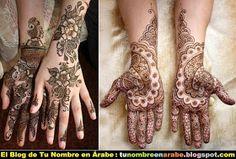 Manos tatuados con henna