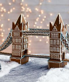 Get your creative juices flowing with this architectural gem - recreate London's iconic Tower Bridge with gingerbread! | Tesco