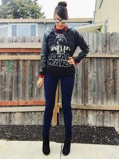 Geek Fashion: Revenge of the 5th OOTD | Darth Vader pullover. #StarWars