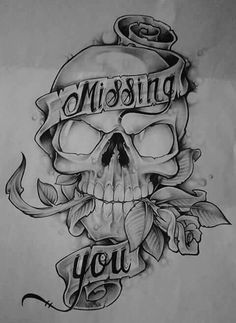 Luv this drawing. Evil Skull Tattoo, Skull Rose Tattoos, Cool Skull Drawings, Skull Artwork, Tattoo Design Drawings, Skull Tattoo Design, Arte Lowrider, Alice And Wonderland Tattoos, Skull Coloring Pages
