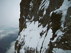 eiger north face - götterquergang I / traverse of the gods I