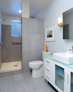 Small Bathroom No Shower Door kind of got hooked on no-door showers in cr. | home decor