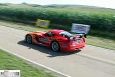 A #Dodge #Viper just past the starting line of the 2011 Sandhills Open Road Challenge