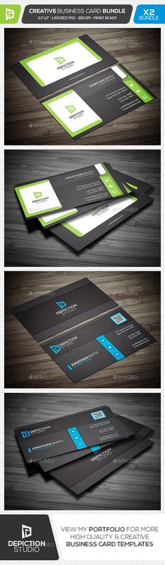 Creative Business Card Bundle - Creative Business Card Template PSD. Download here: http://graphicriver.net/item/creative-business-card-bundle/11881710?s_rank=1782&ref=yinkira