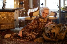 If I could pin one thing, this would be it. Lady Francesca Todd with a lion that attacked her in Kenya in 1965.