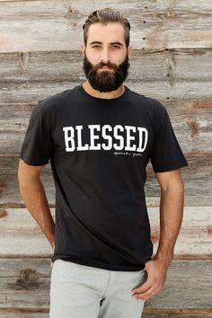 BLESSED TEE VINTAGE BLACK | Spiritual Gangster