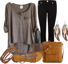 """""""Grey Top Challenge"""" by ljjenness ❤ liked on Polyvore"""