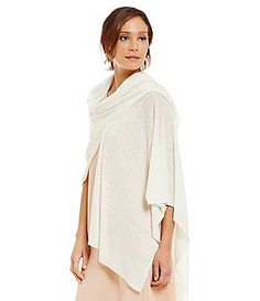 Eileen Fisher Hemp-Blend Wrap Poncho