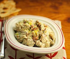 Recipe for Greek chicken salad with lemon and dill {The Perfect Pantry}