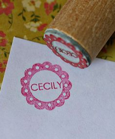 Take a look at this Scallop Personalized Stamp on zulily today!