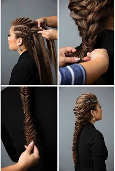 Hair Model Woman Schnelle und einfache lange geflochtene Frisuren Hair Model Woman Fast and Easy Long Braided Hairstyles still arts braided hairstyles model quickly woman – Farbige Haare Long Braided Hairstyles, Pretty Hairstyles, Hairstyles 2018, Blonde Hairstyles, Hairdos, Simple Hairstyles, Wedding Hairstyles, Braided Mohawk, Braid Hairstyles