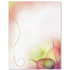 Fall Glisten Specialty Border Papers   PaperDirect