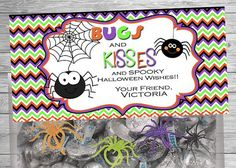 Halloween Treat Halloween Bugs and Kisses Topper by DazzelPrintz