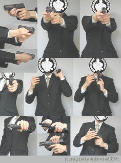 손 그리는 방법(무기)[Urban Pistol Grip]