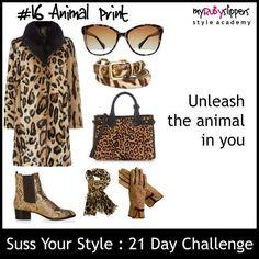 21 day challenge.  Day 15 animal  #colours #colourful #dresswithoutstress #dresstoimpress #dressforsuccess #empower #fabover40 #fabover50 #lookgoodfeelgood #midlifecrisis #niftyfifty #ootd #personalbranding #selfconfidence #selfimage #style #styleacademy #stylechallenge #styleguide #stylesavvy #styletips #womeninbiz #womenswisdom
