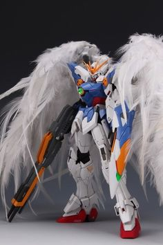 GUNDAM GUY: MG 1/100 Wing Gundam Proto Zero w/ Real Feathers - Customized Build [New Images Updated!]