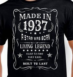Items Similar To 80th Birthday Gift For Man Father Grandpa Husband Daddy Pop T Shirt Funny Vintage Turning 80 Year Old Made In 1938 Tshirt