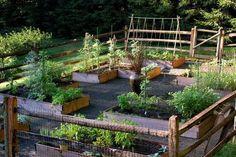 enclosed+vegetable+garden+designs | Creating Perfect Garden Designs to Beautify Backyard Landscaping Ideas