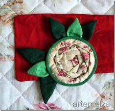 artemelza - rosa japonesa de patchwork TUTORIAL