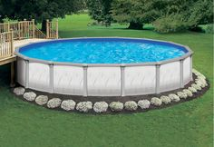 Above ground pool landscape   ... above ground pool from Atlantic Pools, available at McKie Pools and