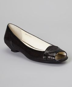 Another great find on #zulily! Black Leather Janine Shoe #zulilyfinds