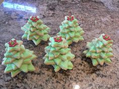 Christmas Tree Cookies.