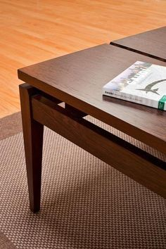 This coffee table is simple, clean, and modern.