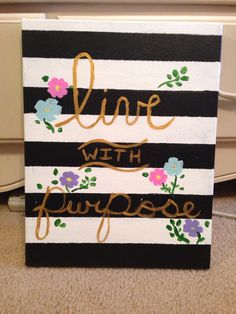 Live with purpose #sorority #crafts #biglittle #alphagam #agd #live #with #purpose #canvas