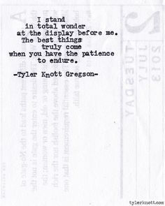 Typewriter Series #514 by Tyler Knott Gregson