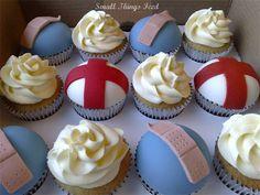 nurse theme cupcakes, super cute