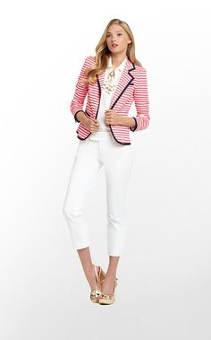 Malibu Blazer. I want this whole outfit too! Would be cute for late spring/ early summer.