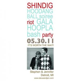 Shindig Save the Date Cards