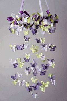 más y más manualidades: Móviles de mariposas