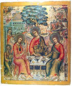 Троица ветхозаветная. Вторая половина XVII в. Дерево, левкас, темпера