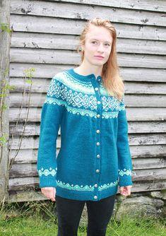 Ravelry: Damsgaard jacket, Damsgård kofta pattern by Aud Bergo Knitting Patterns Free, Free Pattern, Aud, Tunic Tops, Ravelry, English, Blouse, Long Sleeve, Sleeves
