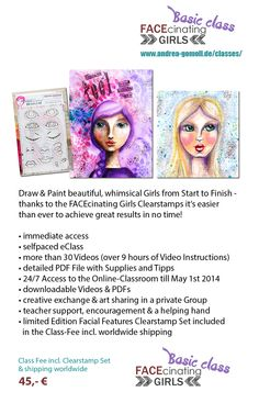 FACEcinating Girls Online Class by Andrea Gomoll - http://andrea-gomoll.de/facecinatinggirls/