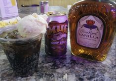 Root Beer Float for adults! Root beer, vanilla ice cream and Crown Royal. Root Beer Float for adults! Root beer, vanilla ice cream and Crown Royal. Liquor Drinks, Cocktail Drinks, Fun Drinks, Yummy Drinks, Mixed Drinks, Cocktails, Alcoholic Beverages, Bourbon Drinks, Cocktail Recipes
