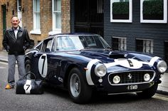 Sir Stirling Moss and his 1961 Ferrari 250 SWB