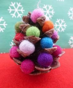 Pine cone trees - Christmas crafts for kids - Netmums