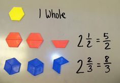Showing conceptual understanding of mixed numbers and improper fractions