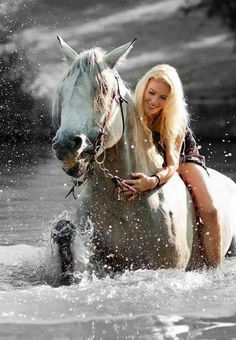 Swimming with your horse