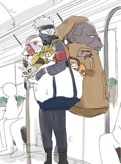 Damn how strong is Kakashi? Bulls gotta way a hundred pounds! Now I wanna see Kakashi shirtless. -drools-<<<wow Kakashi is insane Naruto Kakashi, Anime Naruto, Naruto Comic, Naruto Fan Art, Naruto Cute, Naruto Shippuden Anime, Gaara, Konoha Naruto, Anime Characters