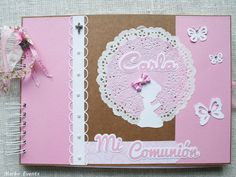 comunion Shabby chic mint y rosa Mini Scrapbook Albums, Mini Albums, Spa Day Party, Chabby Chic, First Communion, Photo Book, Shabby, Baby Shower, Frame