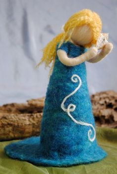 Waldorf inspired needle felted doll Seashell fairy by MagicWool
