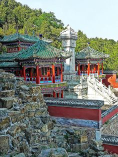 Small Pagoda at Longevity Hill, Summer Palace, Beijing, China